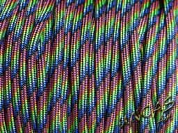 Bild von Paracord 550 Typ 3 - dark rainbow stripes
